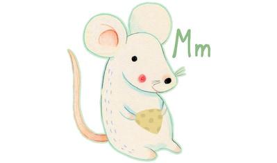 Wall-Art Wandtattoo »Maus Mouse Buchstabe M« kaufen