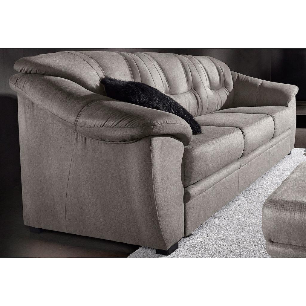 sit&more 3-Sitzer, inklusive komfortablem Federkern, wahlweise mit Bettfunktion