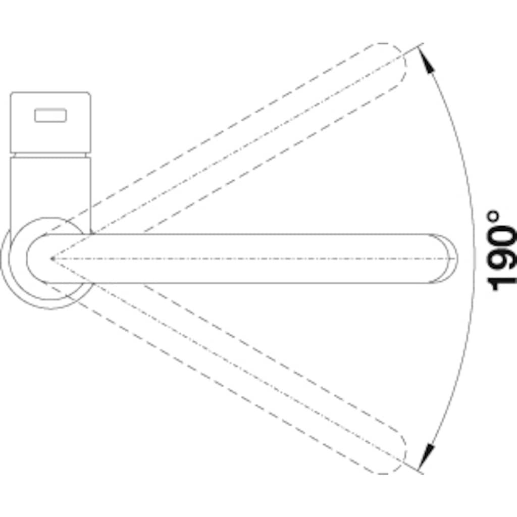 Blanco Küchenarmatur »CANDOR-S«, Hochdruck, aus Edelstahl mit ausziehbarem Auslauf