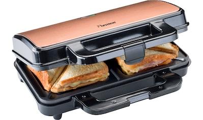 bestron Sandwichmaker »XL Sandwich-Toaster«, 900 W, antihaftbeschichtet, für 2... kaufen
