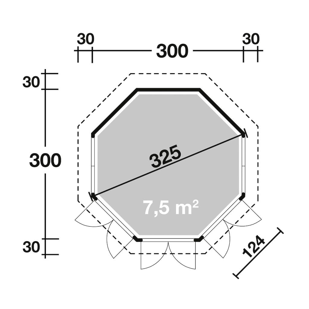Wolff Holzpavillon »Milano 3.0«, (Set), BxT: 360x360 cm, mit Dachschindeln und Fußboden