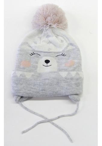 Chaplino Strickmütze, mit süßem Bärchengesicht kaufen