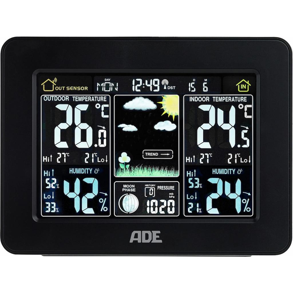 ADE Funkwetterstation »WS1503«, (mit Außensensor), Thermometer/Hygrometer mit Funk- und Außensensor