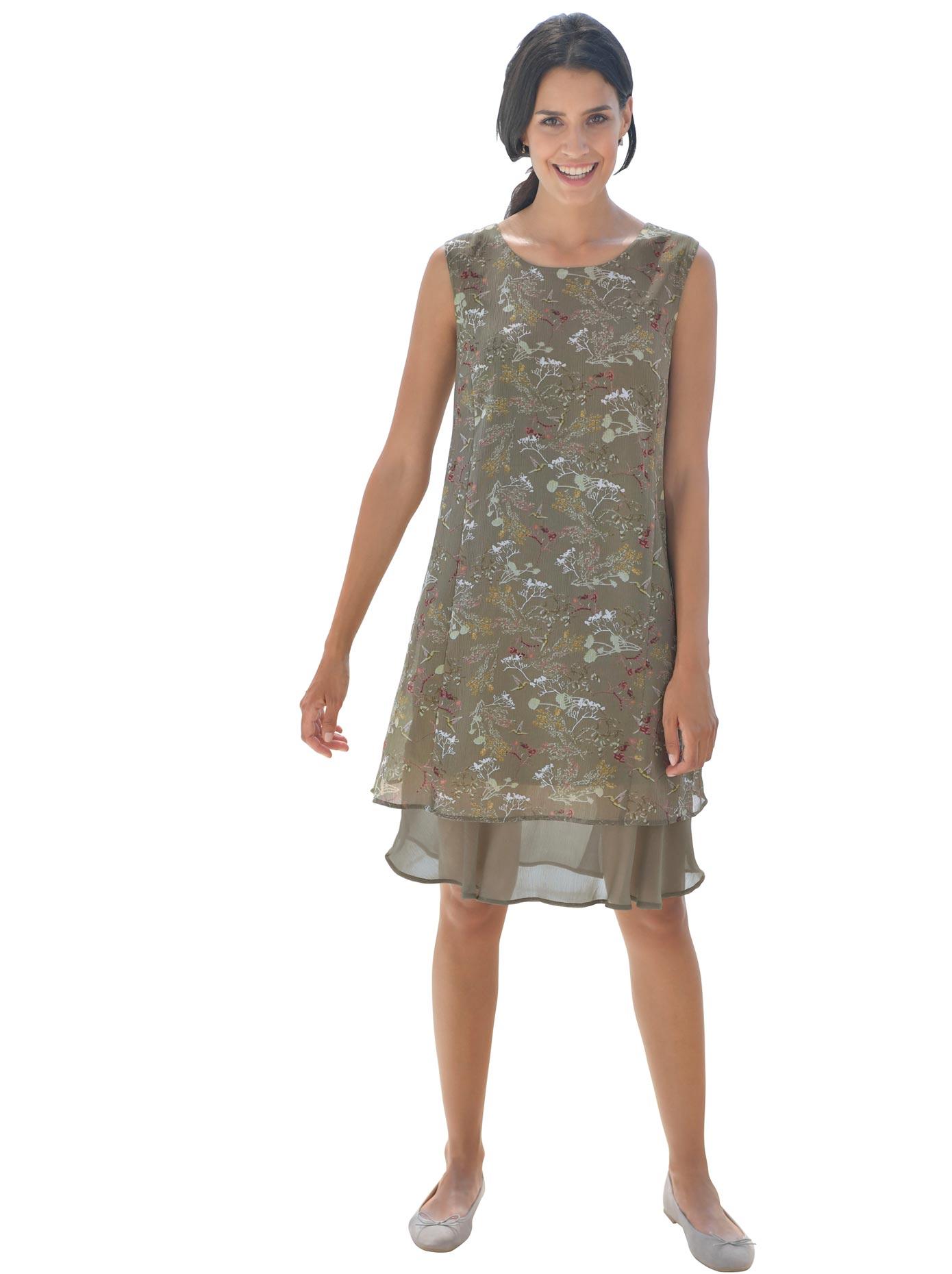 création L Kleid in leicht crinkeliger Qualität