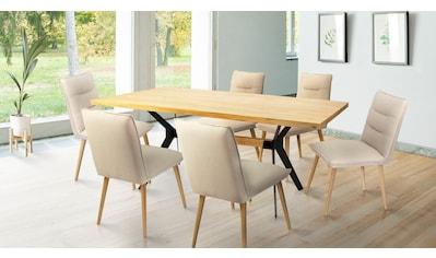 Home affaire Essgruppe »Mel/Parma«, (Set, 7 tlg.), bestehend aus Mell Esstisch 180 cm... kaufen