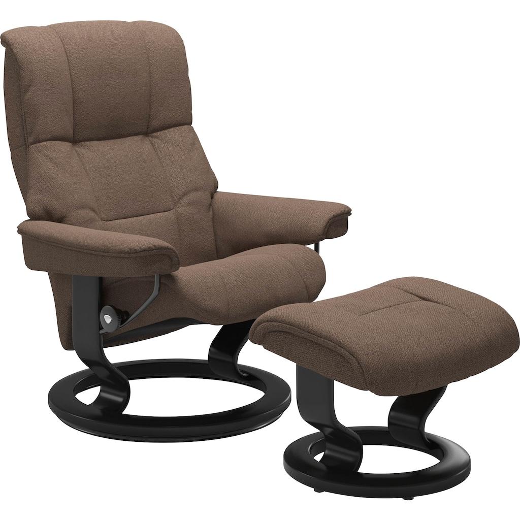 Stressless® Relaxsessel »Mayfair«, mit Hocker, mit Classic Base, Größe S, M & L, Gestell Schwarz