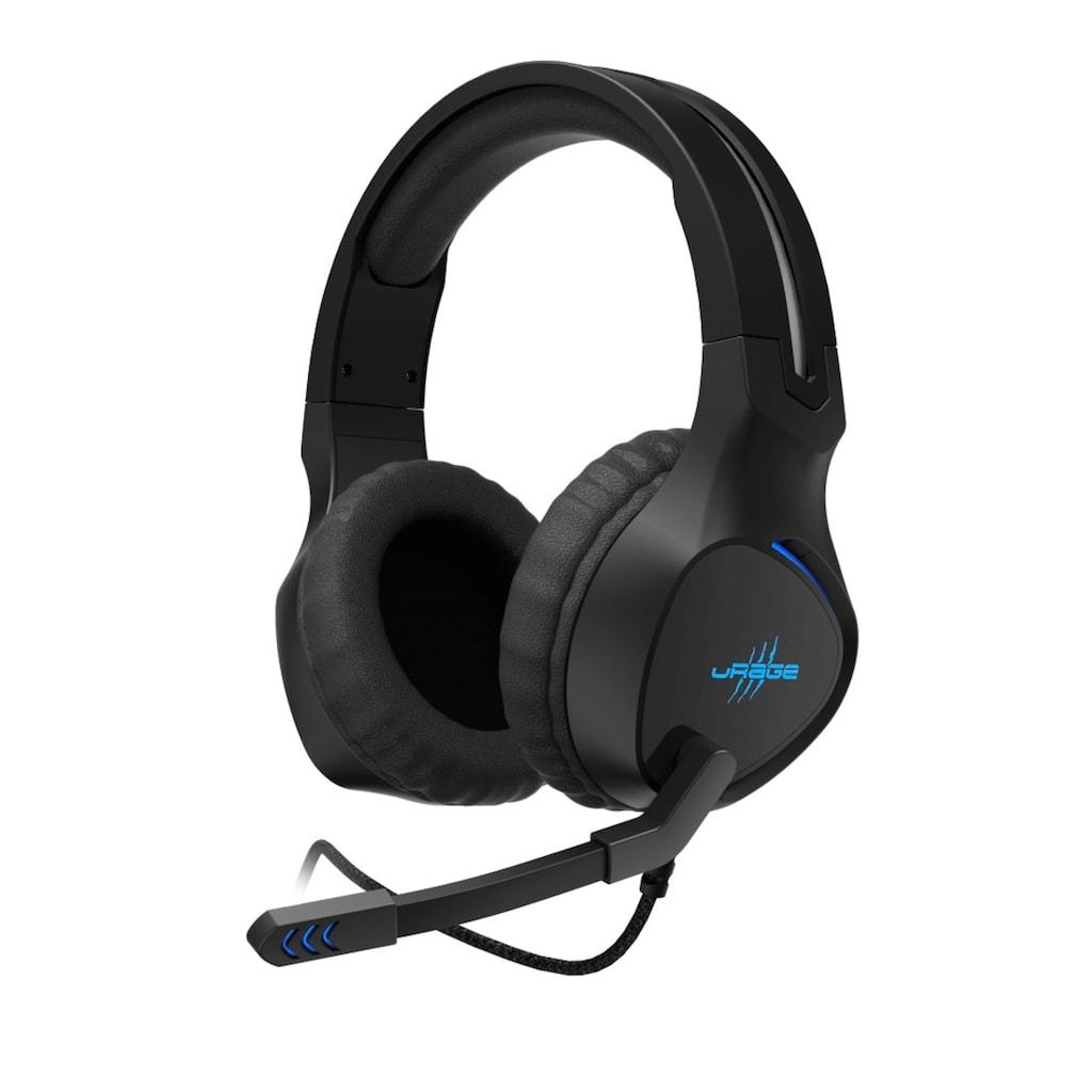 uRage Gaming Gamer Headset mit Mikrofon, langes Kabel, USB