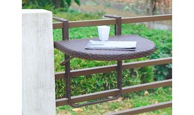 Garden Pleasure Balkonhängetisch »Rattan«, Polyrattan, klappbar, 60x50 cm kaufen
