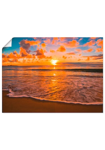 Artland Wandbild »Sonnenuntergang am Strand«, Sonnenaufgang & -untergang, (1 St.), in... kaufen