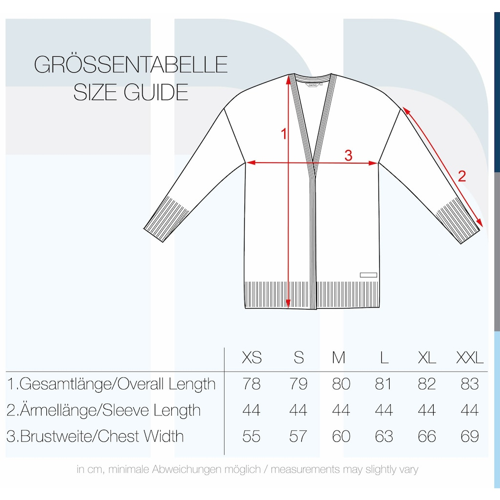 OXMO Strickjacke »Gisele«, Strickjacke mit Ärmel-Details