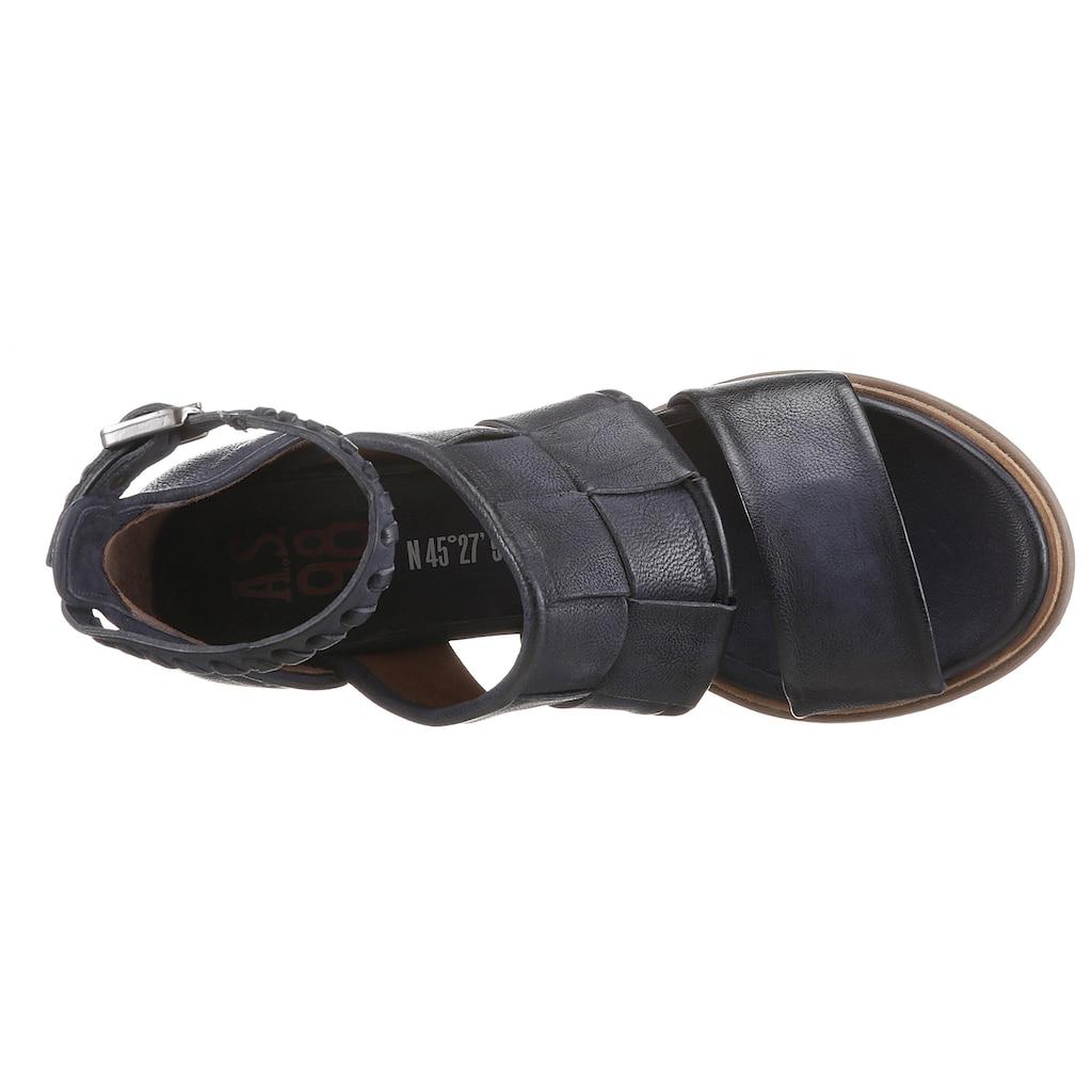 A.S.98 Sandalette »MORAINE«, mit schönem Flechtmuster