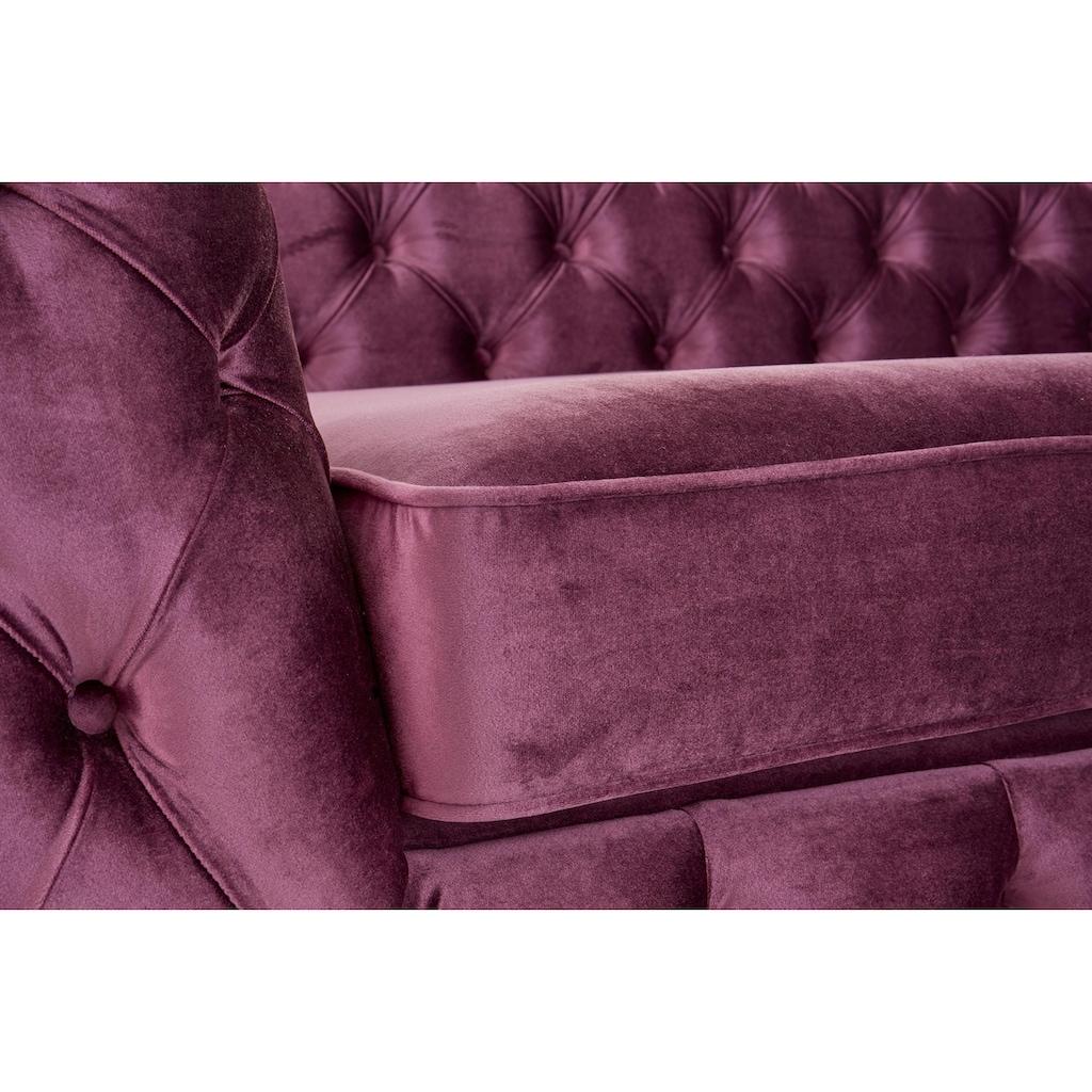 Guido Maria Kretschmer Home&Living 3-Sitzer »Kalina«, mit klassischer Chesterfield-Knopfheftung