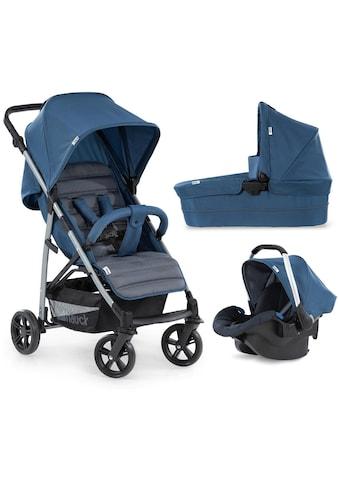 Hauck Kombi-Kinderwagen »Rapid 4 Plus TrioSet, denim/grey«, mit Babyschale kaufen