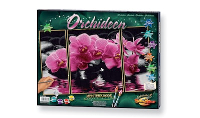 Schipper Malen nach Zahlen »Triptychon - Orchideen«, Made in Germany kaufen
