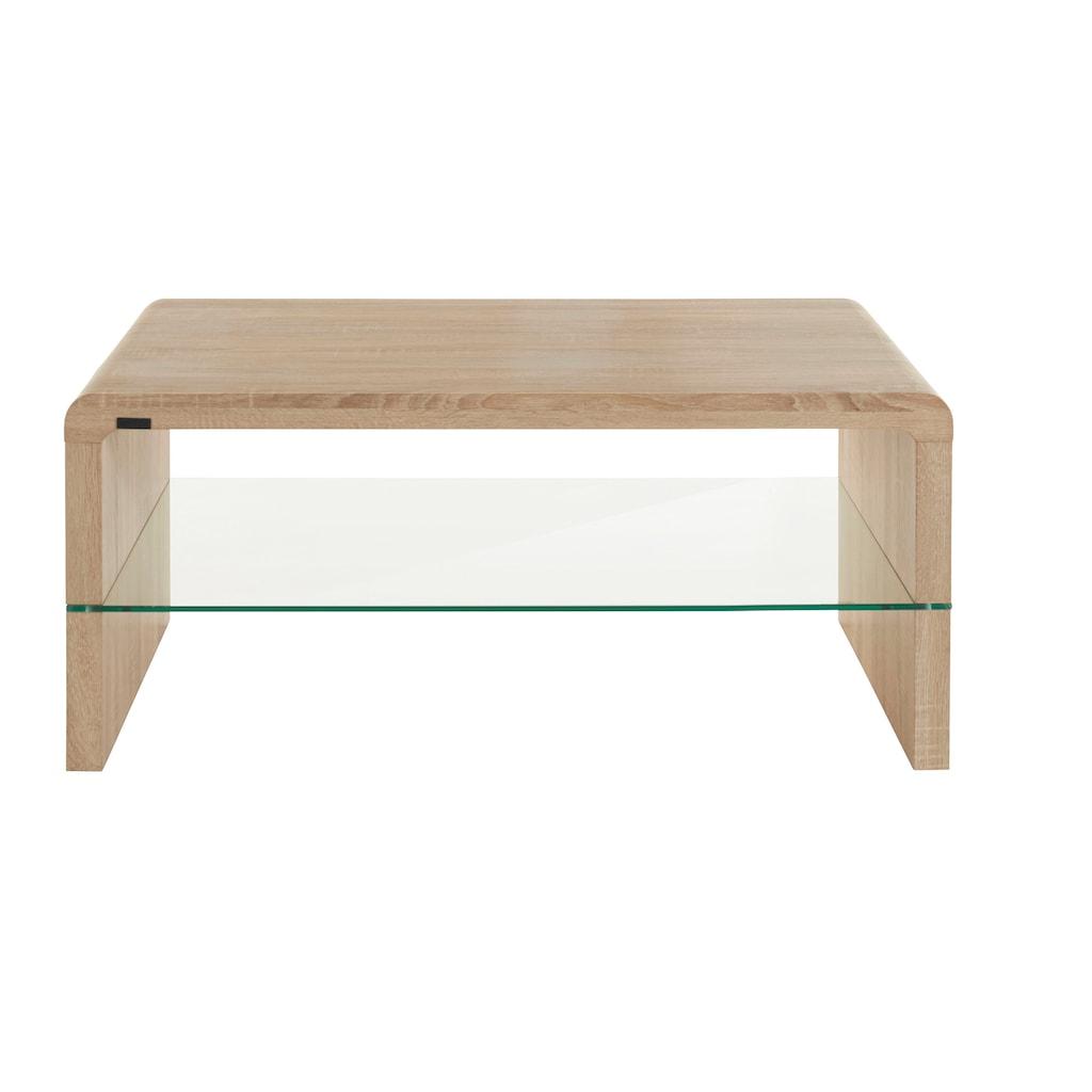 INOSIGN Couchtisch »Flavio«, mit einem Glasablageboden, im modernen Design, in schöner Holzoptik, verschiedene Größen