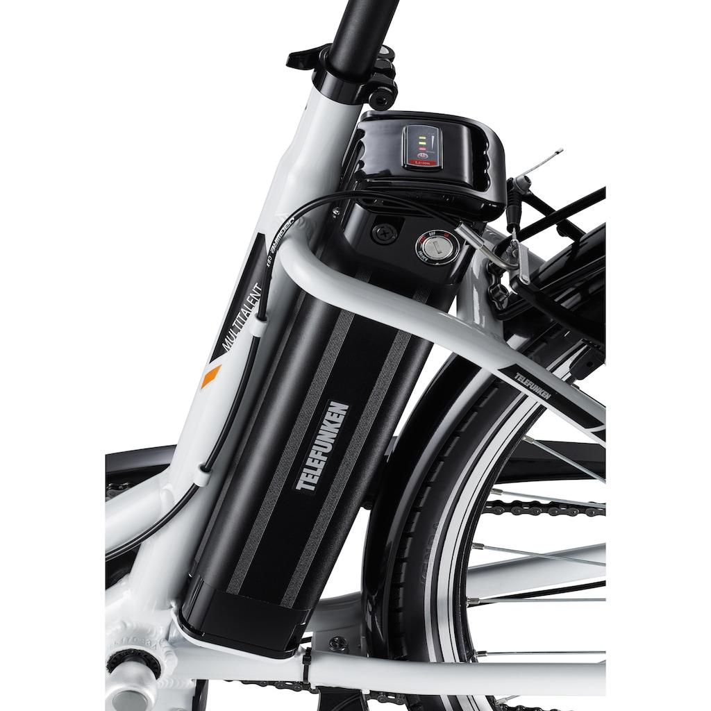 Telefunken E-Bike »Multitalent RC830«, 3 Gang, Shimano, Nexus, Frontmotor 250 W, mit Fahrradkorb