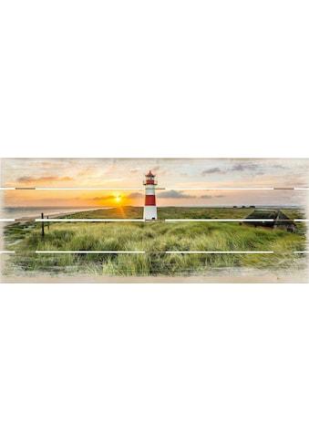 Holzbild »Leuchtturm auf Sylt« kaufen
