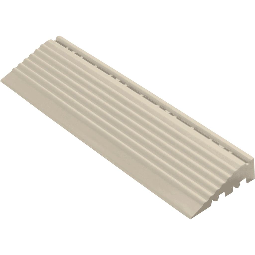 florco® Klickfliesen-Kantenleiste, Seitenteil grau mit Öse, 30 cm