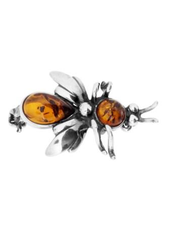 OSTSEE-SCHMUCK Brosche »- Fliege - Silber 925/000 - Bernstein« kaufen
