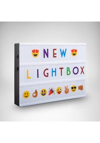 B.K.Licht LED Lichtbox »AURORA BUNT«, LED-Board, Kaltweiß, LED Lightbox Leuchtkasten A4 Bunt USB Buchstaben Emojis Lichtbox Letterbox Deko kaufen
