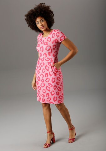 Aniston SELECTED Sommerkleid, Animal-Print in modischer Knallfarbe - NEUE KOLLEKTION kaufen