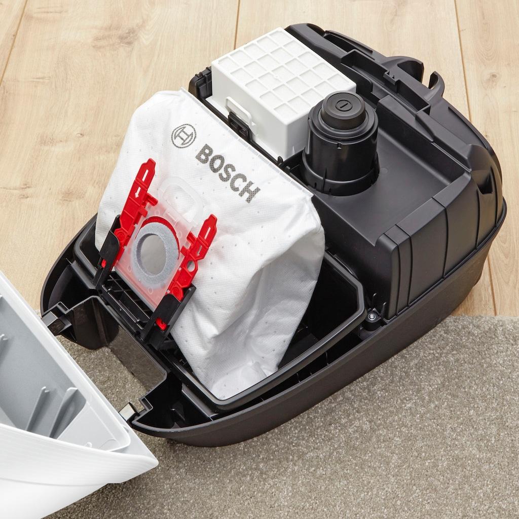 BOSCH Bodenstaubsauger »ProSilence Serie 6, weiß, BGL6TSIL«, 700 W, mit Beutel, besonders leise, HEPA Filter, 10 Jahre Motorgarantie
