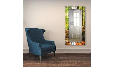 Artland Wandspiegel »Wald mit Bach«, gerahmter Ganzkörperspiegel mit Motivrahmen,... kaufen