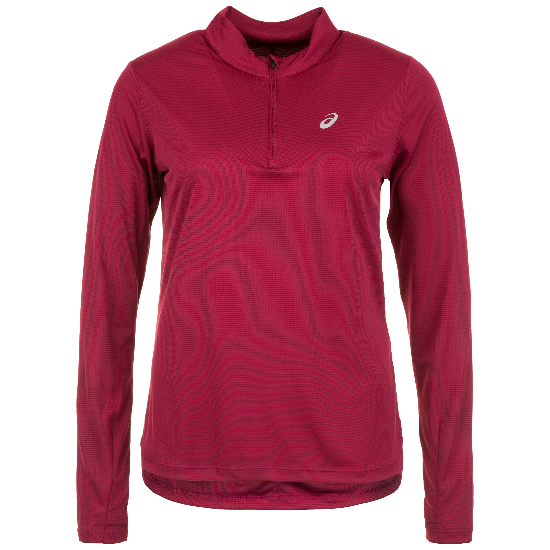 Asics Laufshirt Silver 1/2 Zip | Sportbekleidung > Sportshirts > Laufshirts | Rot | ASICS