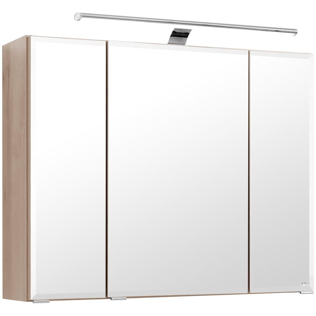 HELD MÖBEL Spiegelschrank »Fontana«, Breite 80 cm, mit Soft-Close-Funktion und Steckdose