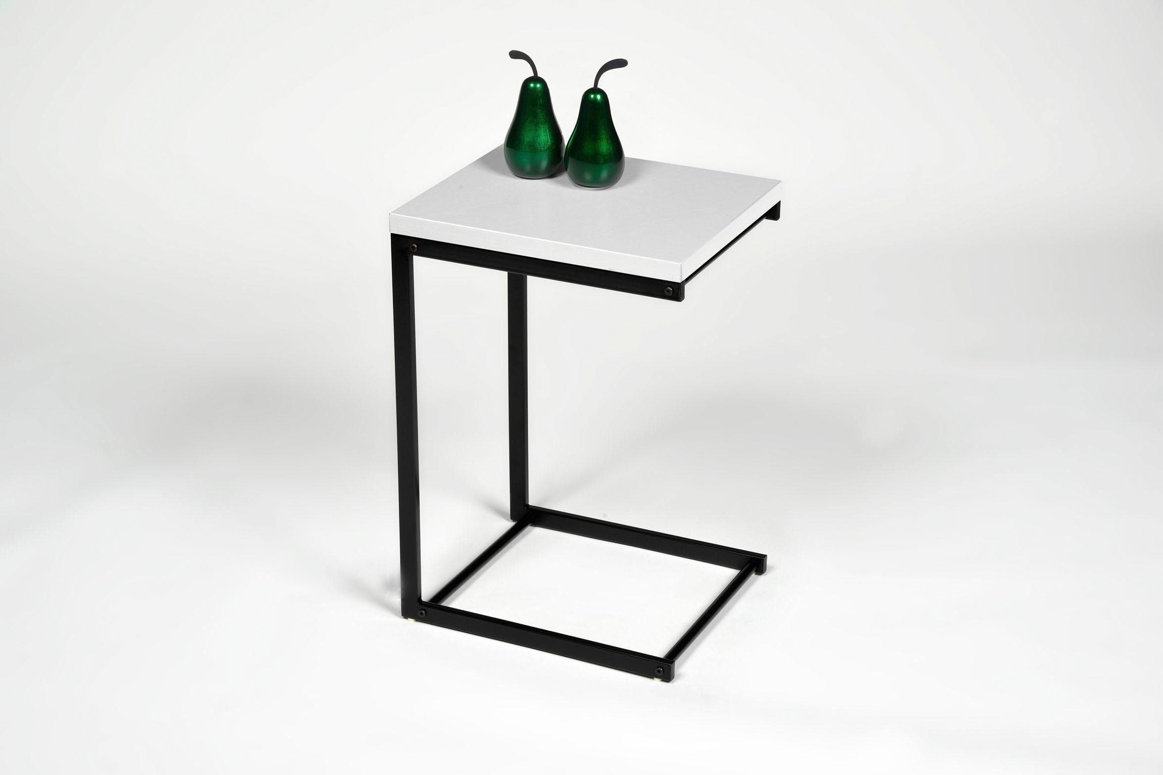 PRO Line Beistelltisch, mit Metallgestell weiß Beistelltische Tische Beistelltisch