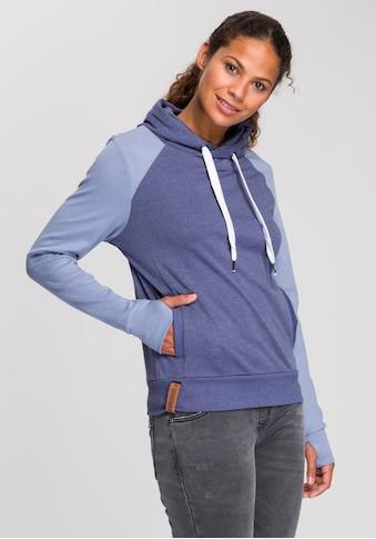 KangaROOS Kapuzensweatshirt, mit kontrastfarbenden Ärmeln in Raglan-Optik kaufen