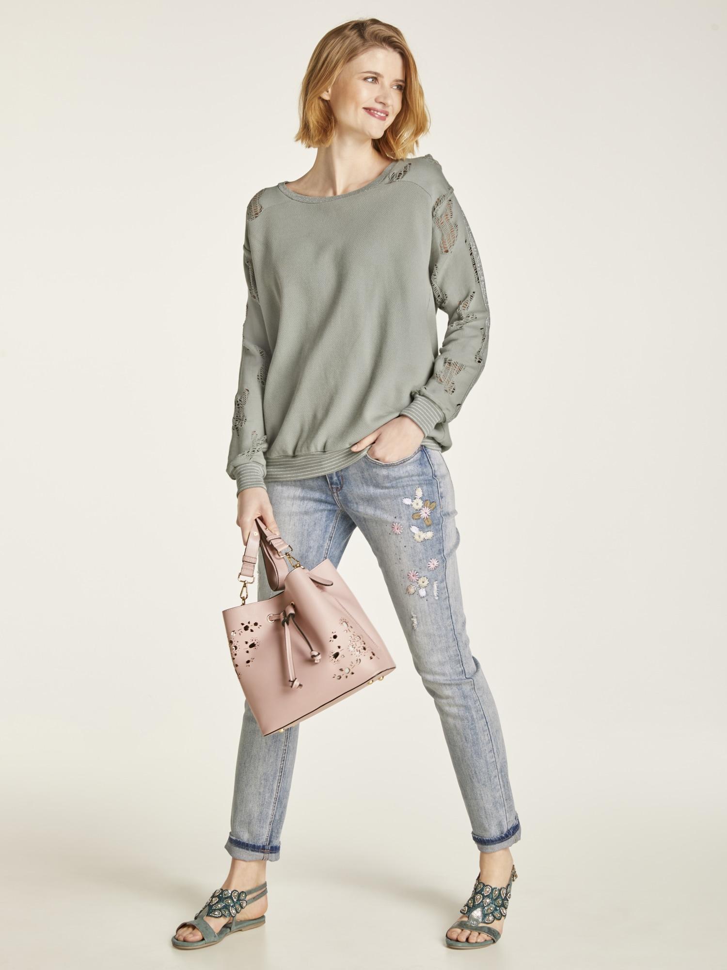 heine CASUAL Boyfriend-Jeans Calea mit Stickerei | Bekleidung > Jeans > Boyfriend-Jeans | Blau | heine