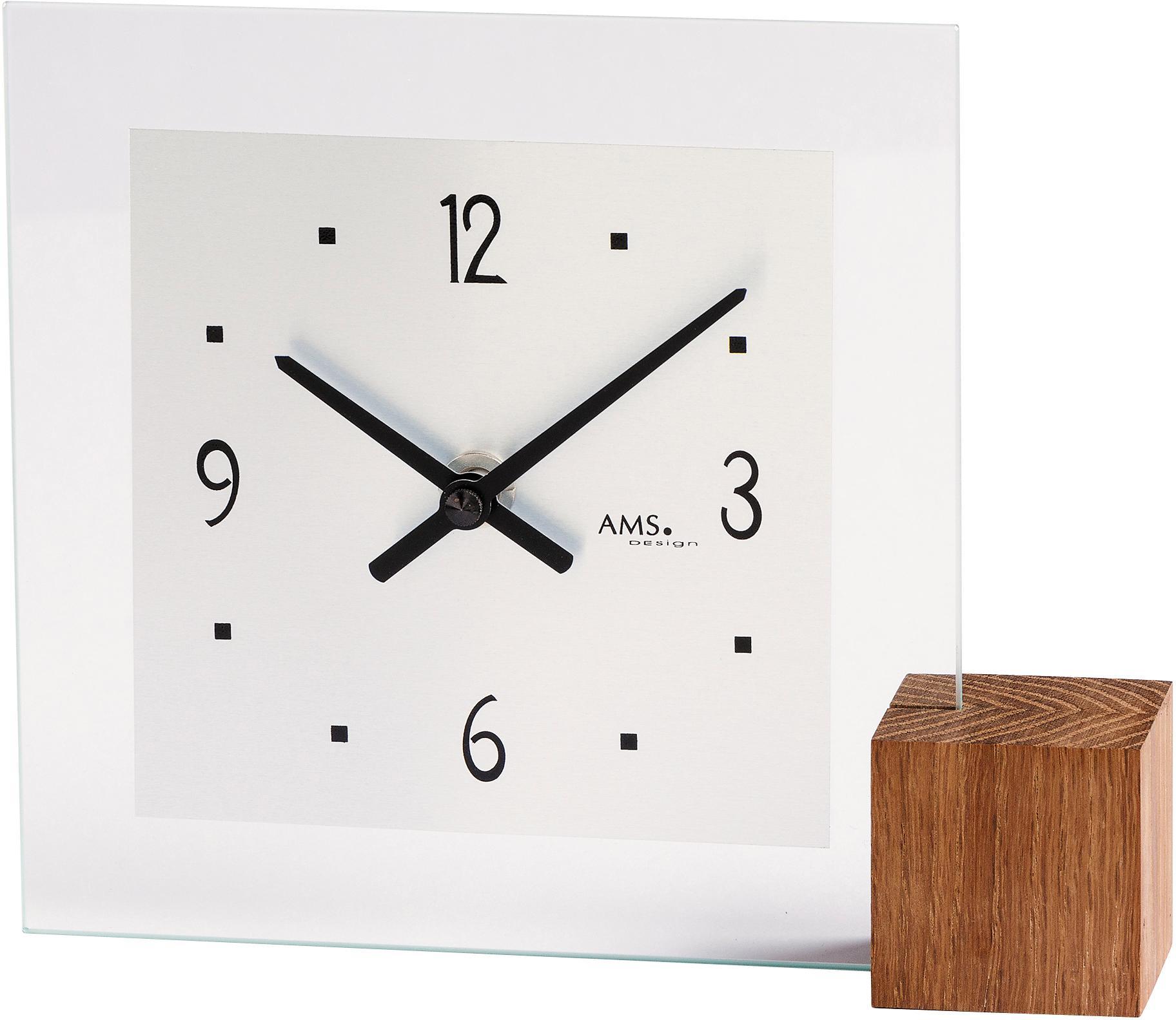AMS Tischuhr T104   Dekoration > Uhren > Standuhren   Braun   Ams