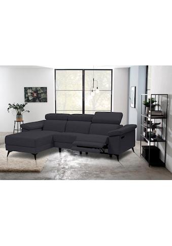 Places of Style Ecksofa »Samira«, mit elektrischer Relaxfunktion in einem Sitz und... kaufen