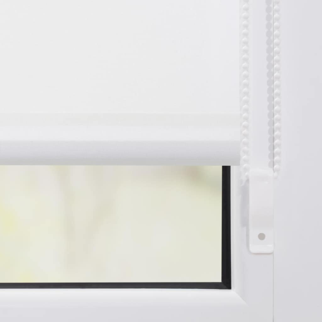 LICHTBLICK ORIGINAL Seitenzugrollo »Rollo Klemmfix, ohne Bohren, blickdicht, Nordseestrand - Rot Weiß«, blickdicht, Sichtschutz-Blendschutz, freihängend