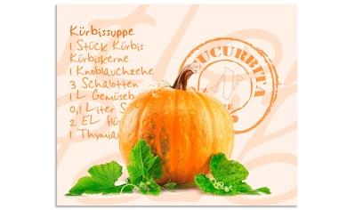 """Artland Küchenrückwand """"Gelber Kürbis mit grünen Blättern"""", (1 - tlg.) kaufen"""