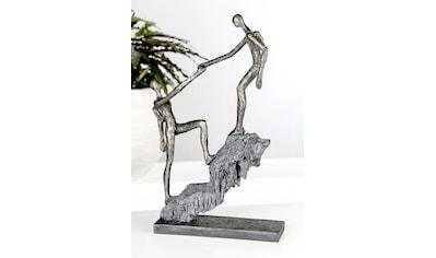 Casablanca by Gilde Dekofigur »Skulptur Ankunft, bronzefarben/grau«, Dekoobjekt, Höhe... kaufen