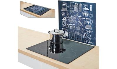 Zeller Present Herdblende-/Abdeckplatte »Lovely Kitchen«, Silikonfüßen kaufen