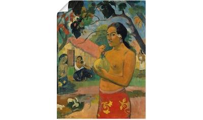 Artland Wandbild »Frau die eine Frucht hält« kaufen