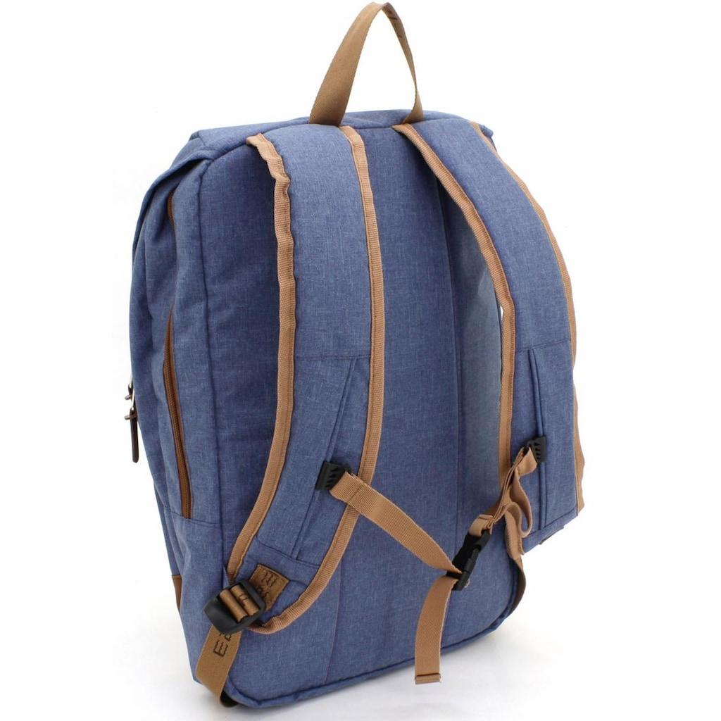F23™ Laptoprucksack »Henderson & Co 17 L - blau meliert«