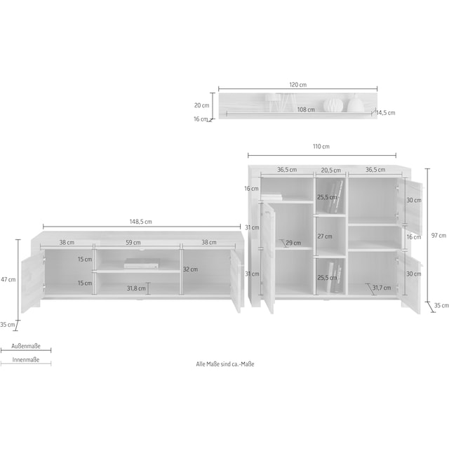 Wohnwand »Sintra« (Set, 3-tlg)