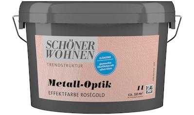 SCHÖNER WOHNEN-Kollektion Wandfarbe »Metall-Optik Effektfarbe roségold«, glänzend, 1 l kaufen