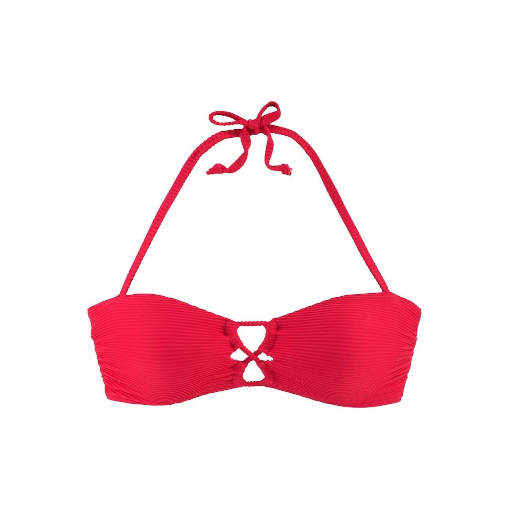 Sunseeker Bandeau-Bikini-Top »Fancy«, mit modischer Zierschnürung