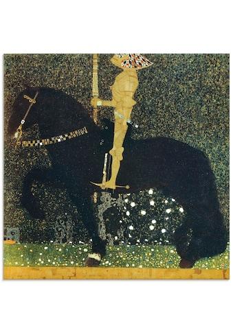 Artland Glasbild »Das Leben ein Kampf der goldene Ritter«, Sport, (1 St.) kaufen