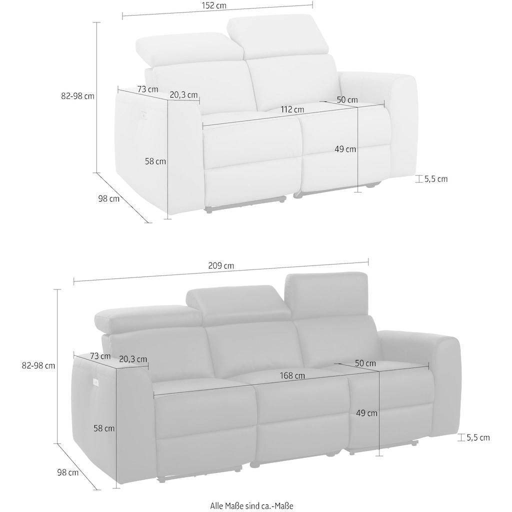 Home affaire Polstergarnitur »Sentrano«, (Set, 2 tlg.), bestehend aus dem 2- und 3 Sitzer, wählbar zwischen manueller oder elektrischer Relaxfunktion