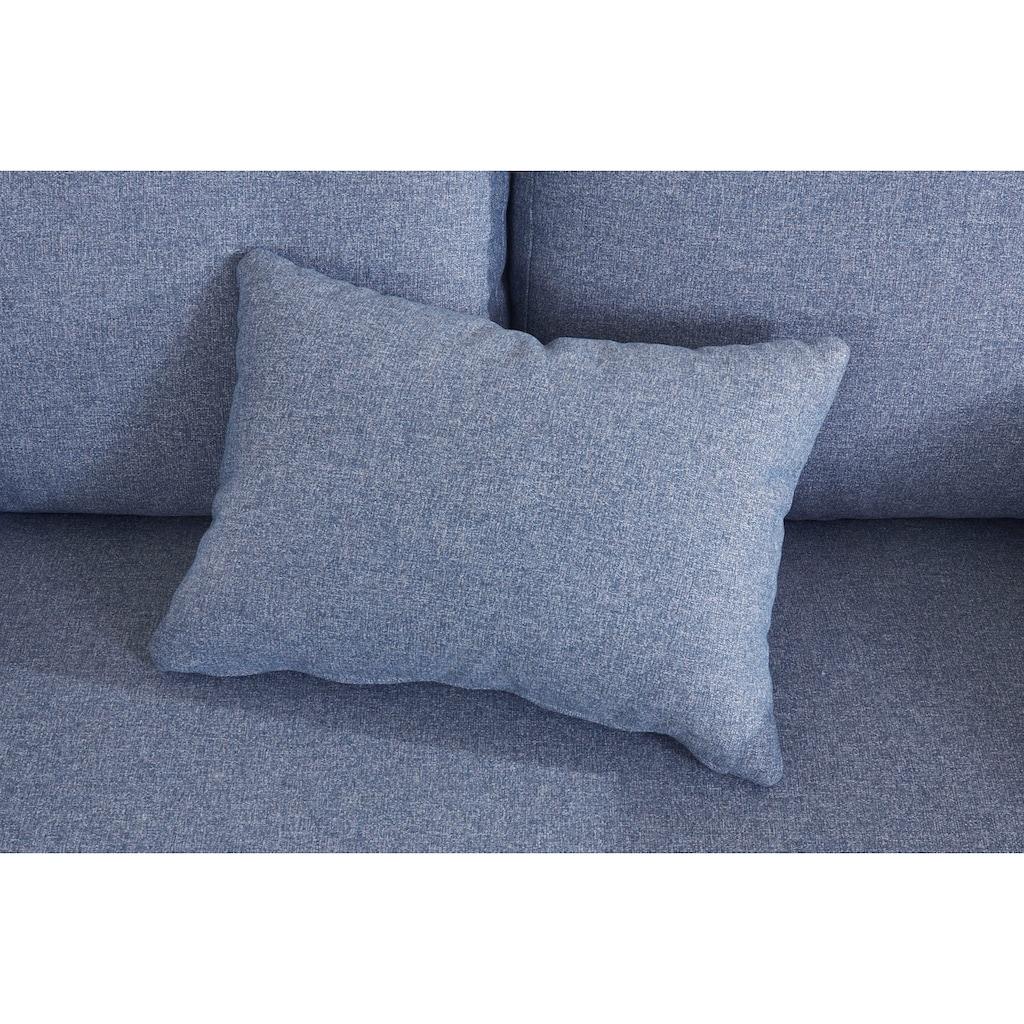 elbgestoeber 2-Sitzer »Elbpier«, mit hochwertigem, gebeiztem Holzrahmen; incl. 3 Zierkissen