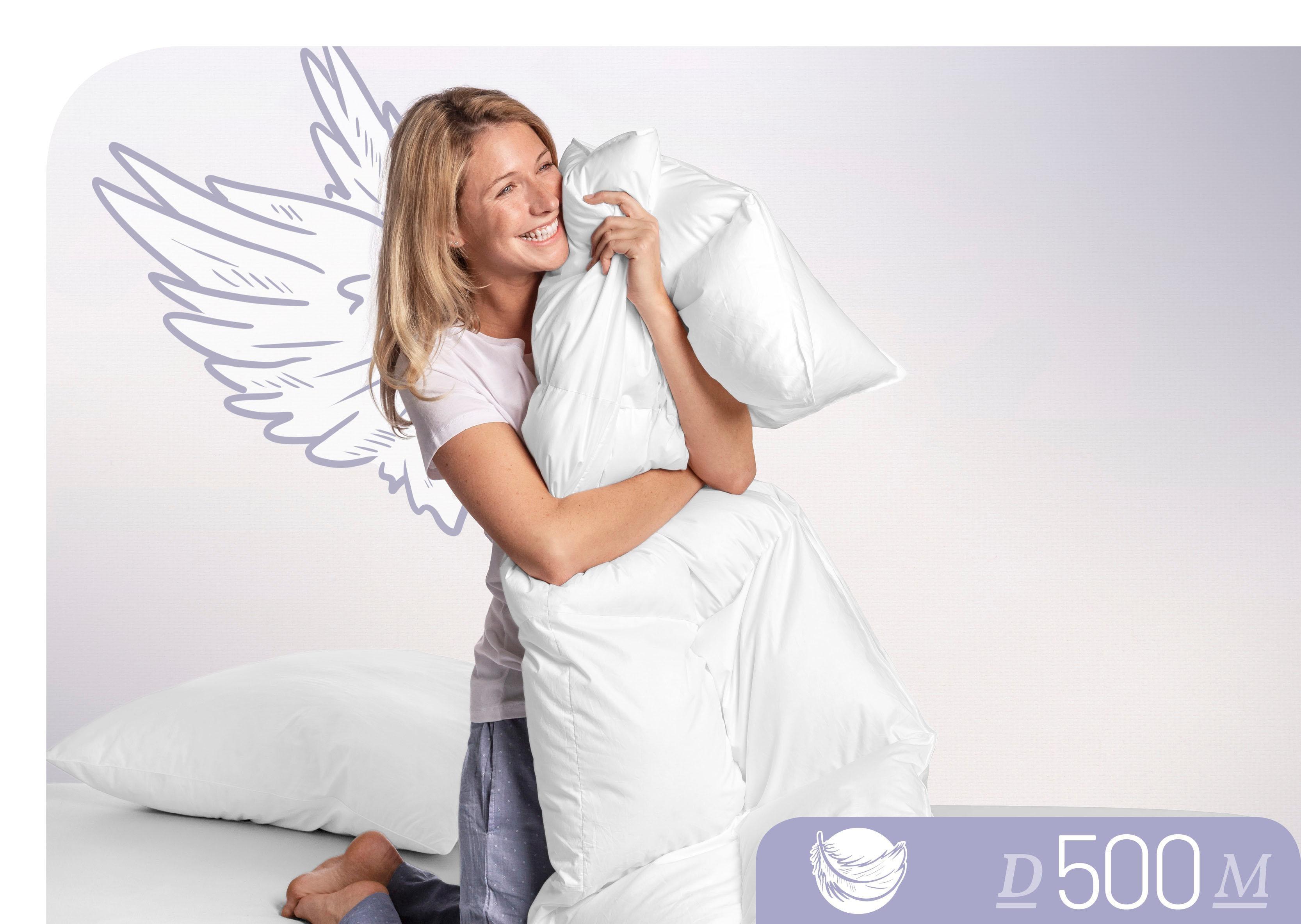 Daunenbettdecke D500 Schlafstil leicht Füllung: 100% Daunen Bezug: 100% Baumwolle