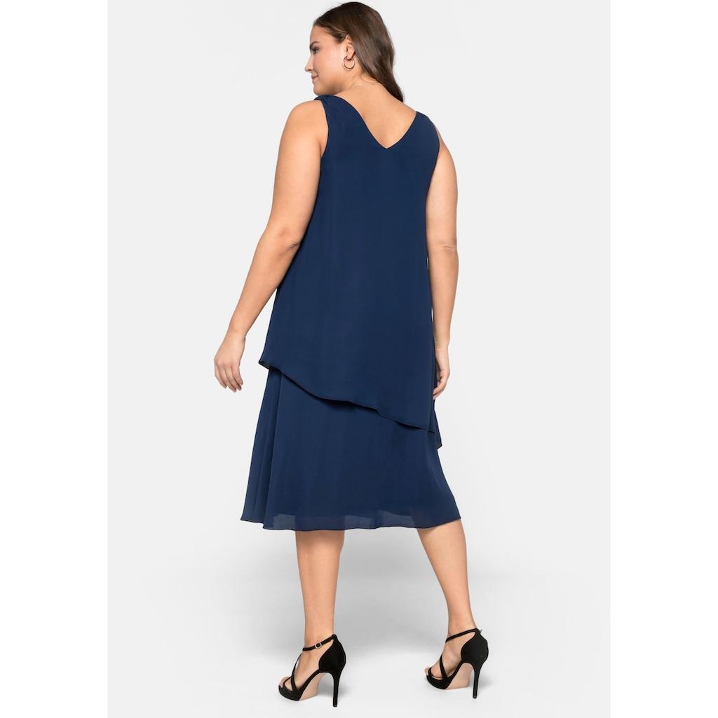 Sheego Cocktailkleid, im Lagen-Look