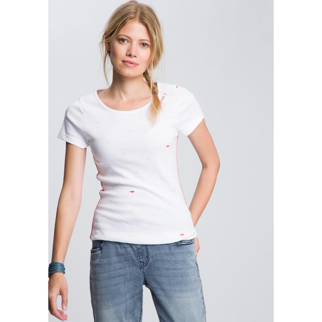KangaROOS T-Shirt, mit süßem Logoschriftzug am Halsausschnitt