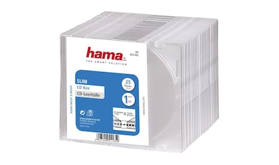 Hama CD-Leerhülle Slim, 25er-Pack, Transparent kaufen